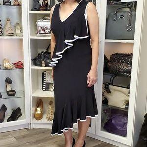 Joseph Ribbkoff | Ruffled Cocktail Dress